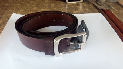 Mens Belt - GANT Leather Belt - Brown