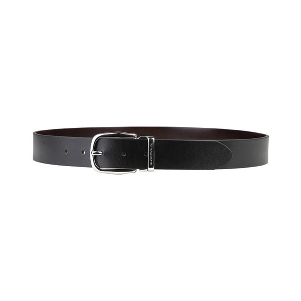 Mens Belt - La Martina - GENUINE Calf Leather BELT - 4cm (Large) Black