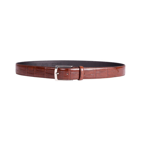 Mens Belt - Pierre Cardin  - Leather Belt -  Brown