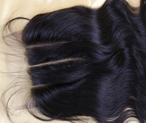 Natural Hair - Peruvian Bodywave Closure - '_'_? 12inches To 16 Inches