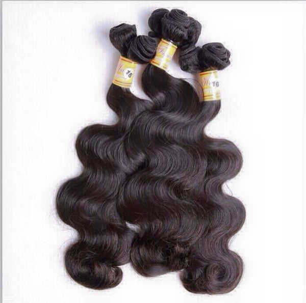 "Natural Hair - Peruvian Bodywaves 16""- 22"""