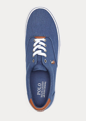 Polo Ralph Lauren-Thorton Washed Twill Sneakers - Newport Navy