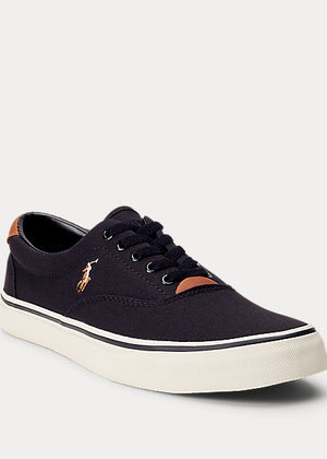 Polo Ralph Lauren-Thorton Canvas Trainer- Black