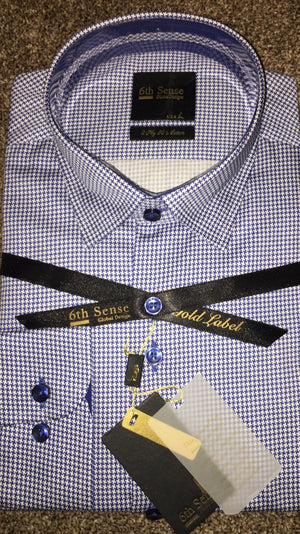 Sixth Sense Luxury Dogtooth Shirt - Ninostyle