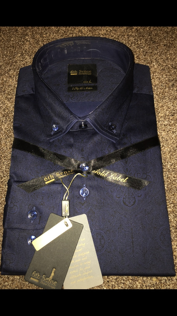 Sixth Sense Luxury Double collar Shirt - Ninostyle