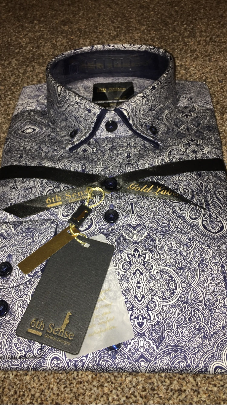 Sixth Sense Luxury Paisley Shirt - Ninostyle