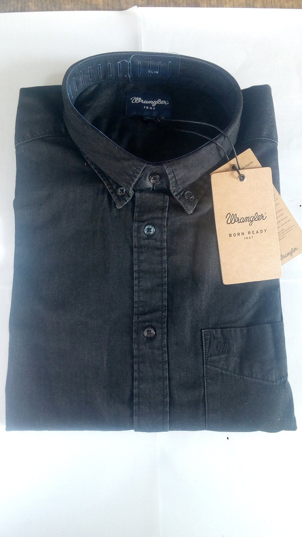 Shirts - Men - WRANGLER - WESTERN SHIRT - Black Indigo - Regular Fit