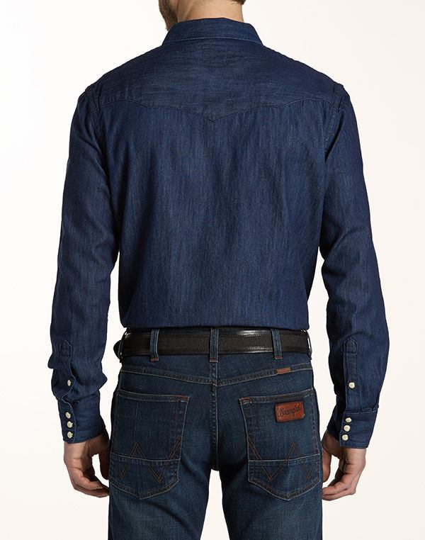 WRANGLER - WESTERN SHIRT - Dark Indigo - Regular Fit - Ninostyle