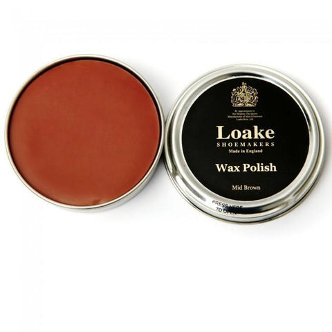 Shoe Care - LOAKE (wax) Shoe Polish - Medium Brown