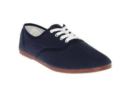 Shoes, Canvas Shoes - Flossy Lace-up Canvas Plimsolls