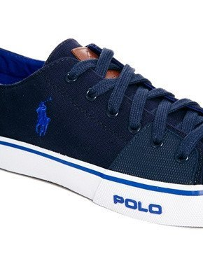 Shoes, Canvas Shoes - Polo Ralph Lauren Cantor Low Navy Blue Mens Trainers