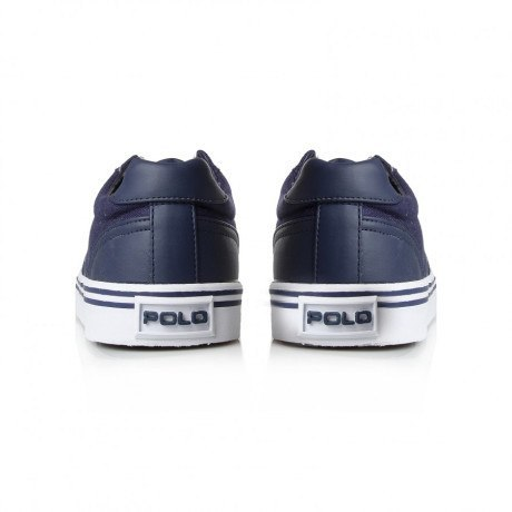 Shoes, Canvas Shoes - Ralph Lauren Hanford Navy Blue Canvas Trainers