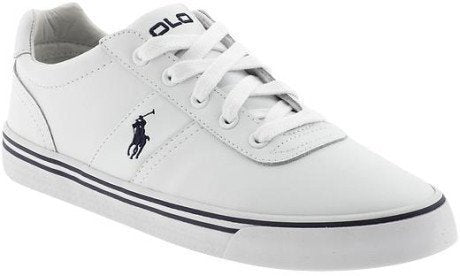 Shoes, Canvas Shoes - Ralph Lauren Hanford White Leather Trainers