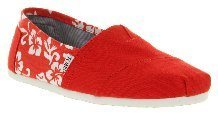 Shoes, Canvas Shoes - Toms - Canvas Red