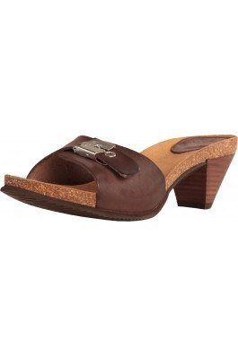 Shoes - Ladies - Dr Scholl -EST- Ladies Clogs Slipper - Moka Leather