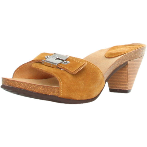 Shoes - Ladies - Dr Scholl -EST- Ladies Clogs Slipper - Tan Suede