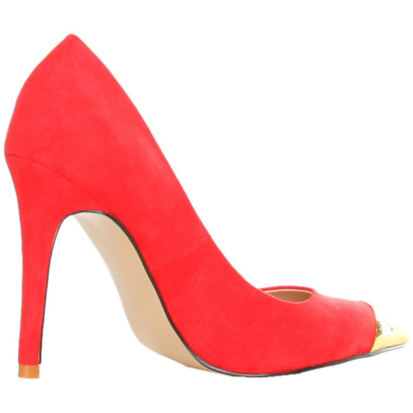 Shoes - Ladies - GAS AVALANCHE Suede High Heel Shoes - Red