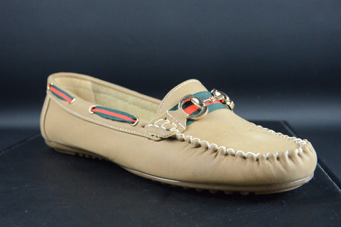 Shoes - Ladies - Ladies Chain Loafers - Khaki
