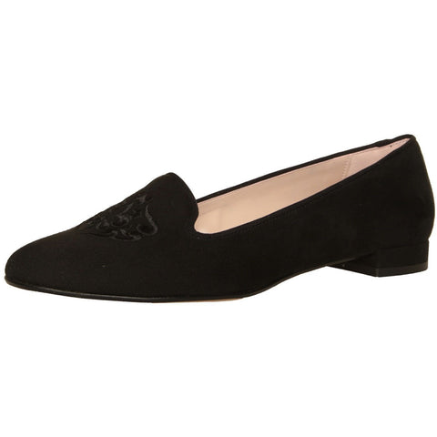 Shoes - Ladies - MADE IN ITALIA  PATTERNED LOAFERS  - Black Suede
