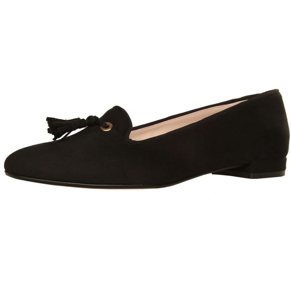 Shoes - Ladies - MADE IN ITALIA Tasselled Loafers - Black Suede