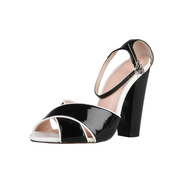Shoes - Ladies - PRIMADONNA Heeled Glossy Sandals - Black/White