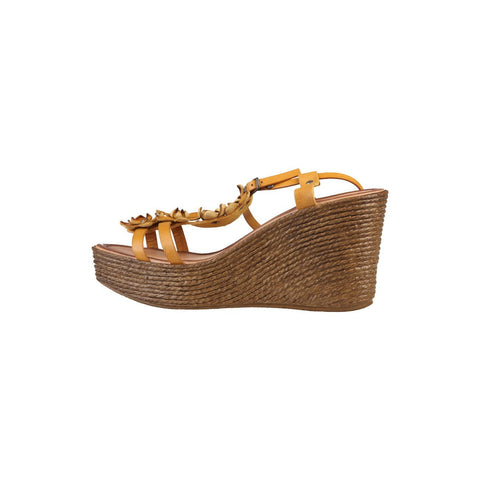 Shoes - Ladies - PRIMADONNA Leather Wedge - Brown