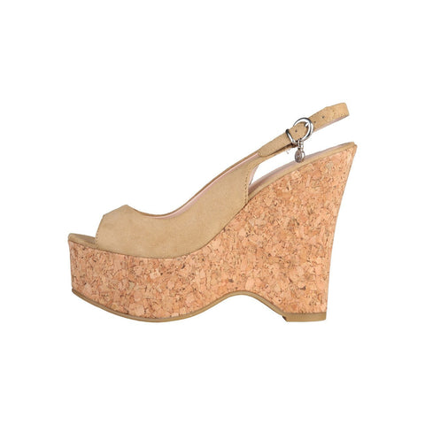 Shoes - Ladies - PRIMADONNA Microfibre Wedge - Cream