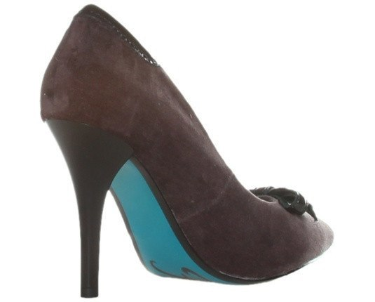 Shoes - Ladies - REPLAY Suede Court Shoe - Grey