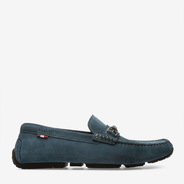 Shoes Men - BALLY PARDUE - MEN'S CALF SUEDE DRIVER - OCEAN