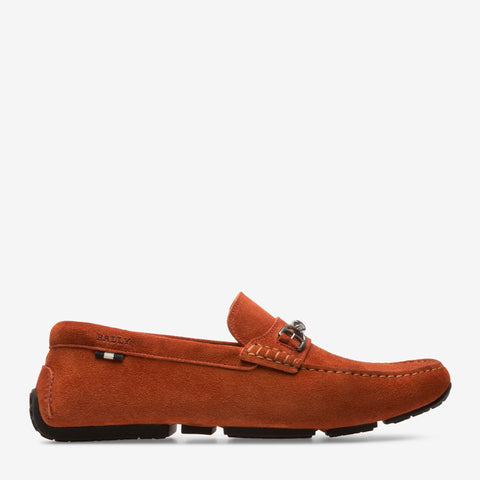 Shoes Men - BALLY PARDUE - MEN'S CALF SUEDE DRIVER - ORANGE