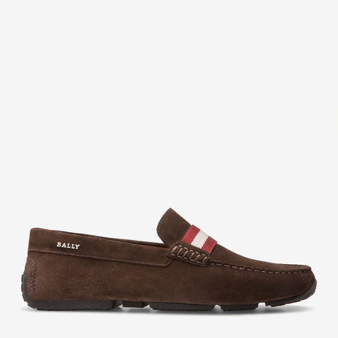 Shoes Men - BALLY PEARCE - MEN'S SUEDE DRIVER - COFFEE