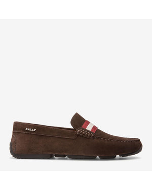 BALLY PEARCE - MEN'S SUEDE DRIVER - COFFEE - Ninostyle