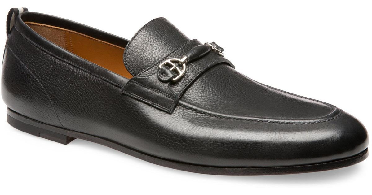 BALLY PLINTOR - CALF LEATHER HORSEBIT LOAFER - BLACK - Ninostyle