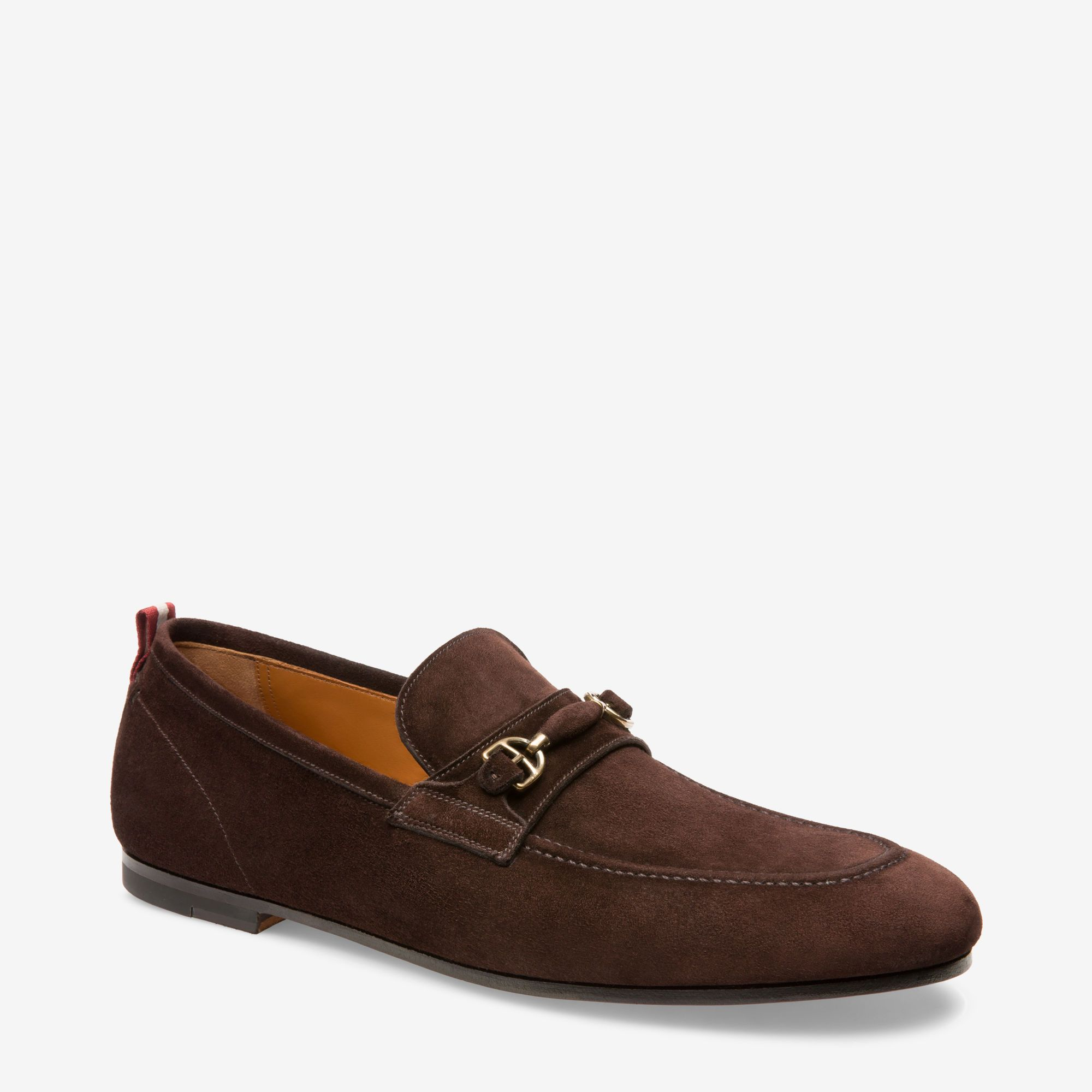 BALLY PLINTOR - CALF SUEDE HORSEBIT LOAFER - COFFEE - Ninostyle