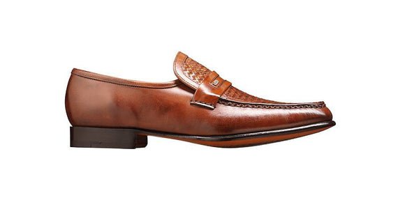 Shoes Men - Barker Adrian - Mocassin Chestnut Calf Weave