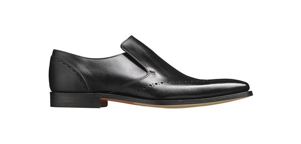 Shoes Men - Barker Bourne Slip-on - Black Calf