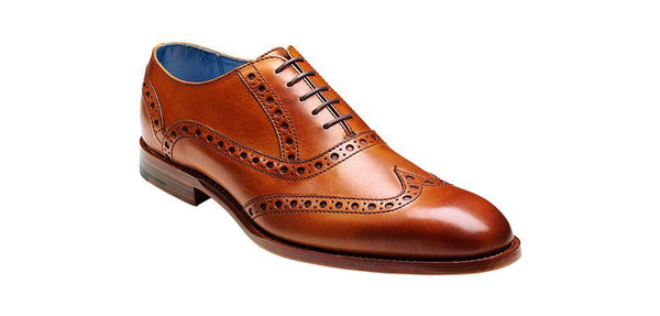 Shoes Men - Barker Grant Brogue Wingtip - Cedar Calf