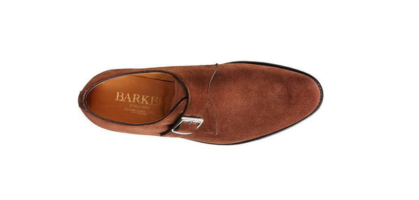 Shoes Men - Barker Northcote Single Monk Shoes - Castagnia Suede
