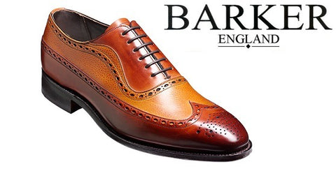 Shoes Men - Barker Rochester Brogue Wingtip - Rosewood Calf