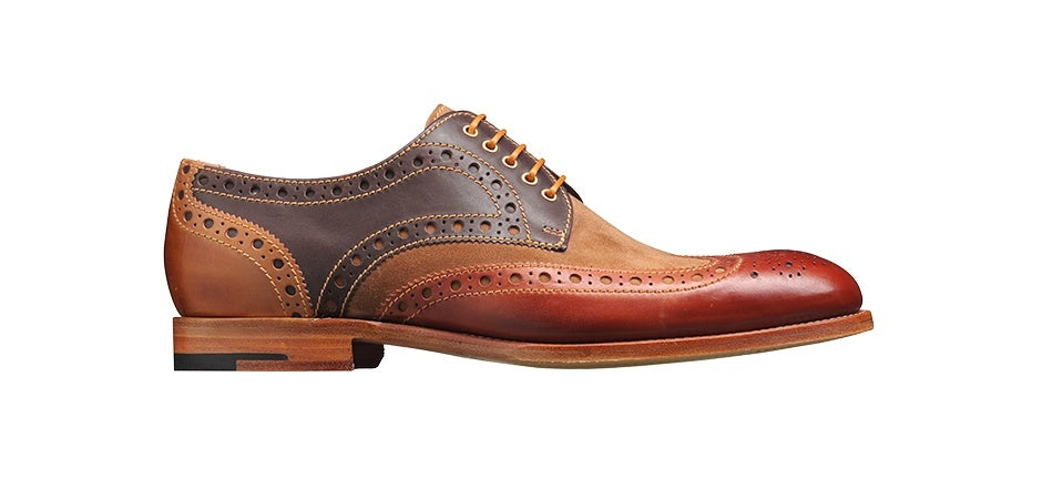 Barker Thompson Derby wingtip - Capuccino / Acorn / Cafe / Snuff - Ninostyle