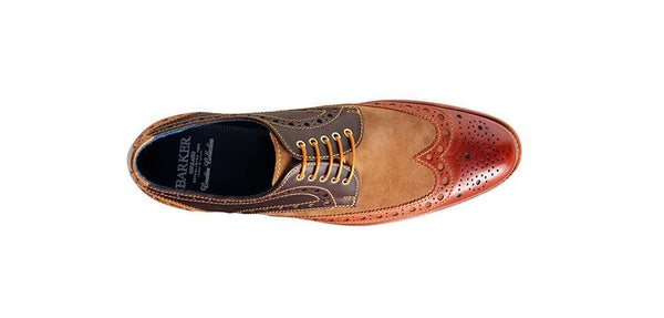 Shoes Men - Barker Thompson Derby Wingtip - Capuccino / Acorn / Cafe / Snuff