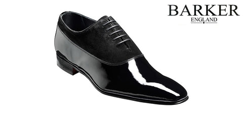 Shoes Men - Barker Troon Patent Derby  - Patent Leather/Suede Black