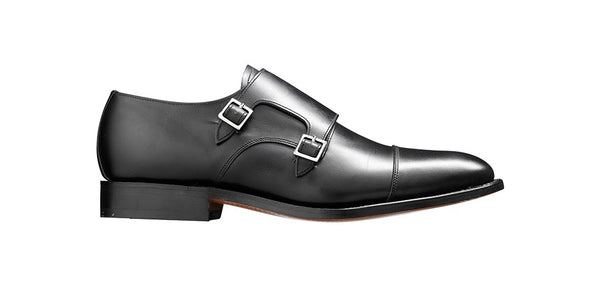 Shoes Men - Barker Tunstall Double Monk Shoes - Black Calf