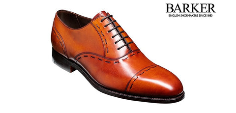 Shoes Men - Barker Warminster Toecap Oxford - Rosewood Calf