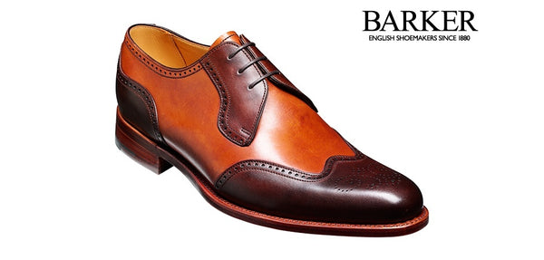 Shoes Men - Barker Weymouth Derby Wingtip - Walnut & Rosewood Calf