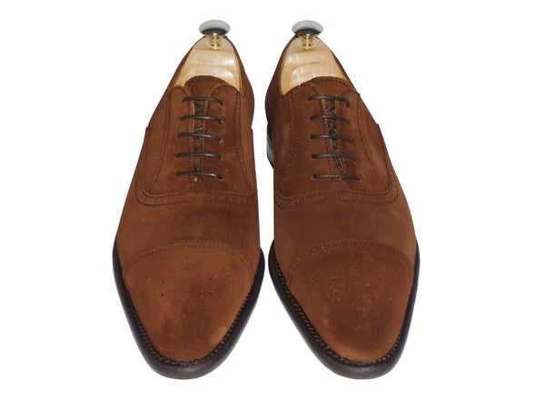 Shoes Men - Berwick Suede Oxford  Brogues - Snuff