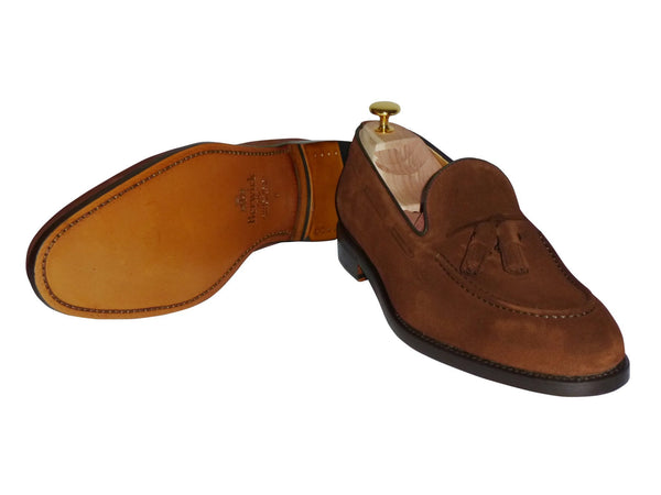Shoes Men - Berwick - Suede Tassel-fringed Moccasin - Snuff