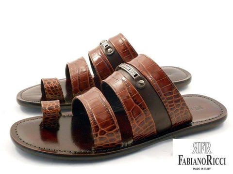 Shoes Men - FABIANO RICCI - Metal Detailing Sandals - Brown