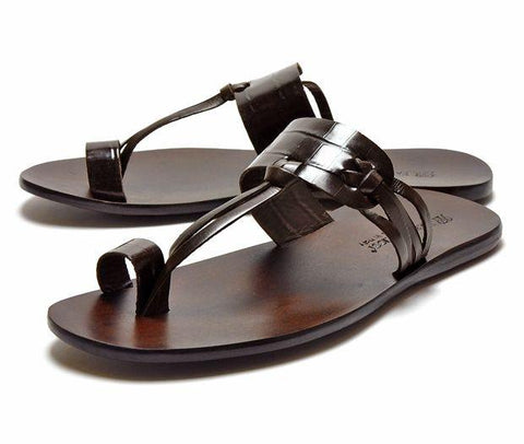 Shoes Men - FABIANO RICCI - Round Towline Sandals-2 - Brown OR Black