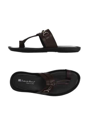 Shoes Men - FABIANO RICCI - Round Towline Sandals - Brown